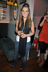 TV sports presenter GEORGIE THOMPSON at a party to celebrate the opening of Barts, Sloane Ave, London on 26th February 2009.
