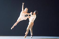 © Licensed to London News Pictures. 03/11/2015. London, UK. Rambert Dance Company present the London premier of Transfigured Night, a new work from award-winning choreographer Kim Brandstrup. At Sadler's Wells Theatre, London. Photo credit : Tony Nandi/LNP