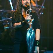 Korn performs at The Wiltern Theatre on October 10, 2013 in Los Angeles, California.