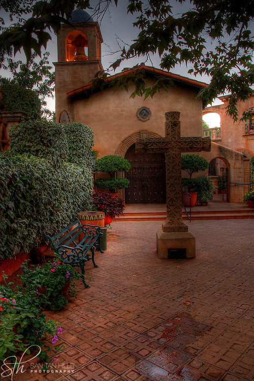 A view of the Tlaquepaque Chapel in Sedona, AZ