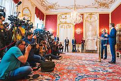 21.05.2019, Praesidentschaftskanzlei, Wien, AUT, Treffen von Bundespraesident Alexander van der Bellen mit Sebastian Kurz (OeVP), im Bild Uebersicht// during a metting between the president Alexander van der Bellen and Sebastian Kurz (OeVP) at the presidents office in Vienna, Austria on 2019/05/21. EXPA Pictures © 2019, PhotoCredit: EXPA/ Florian Schroetter