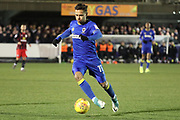AFC Wimbledon attacker Harry Forrester (11) dribbling during the EFL Sky Bet League 1 match between AFC Wimbledon and Blackburn Rovers at the Cherry Red Records Stadium, Kingston, England on 27 February 2018. Picture by Matthew Redman.