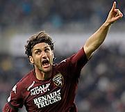 © Filippo Alfero<br /> Torino, 11/04/2009<br /> sport , calcio<br /> Torino vs Catania - Serie A 2008/2009<br /> Nella foto: esultanza Rolando Bianchi gol 1-0<br /> <br /> © Filippo Alfero<br /> Turin, Italy, 11/04/2009<br /> Italian soccer<br /> Torino vs Catania - Serie A 2008/2009<br /> In the photo: Rolando Bianchi celebrates his 1-0 goal