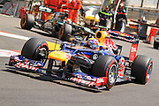26.05.2012. Monaco, Monote Carlo. Mark Webber of Red Bull Racing takes on the streets of Monaco during session three on qualification day.