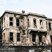 An old abandoned home in Istanbul's Sultahment distrct.