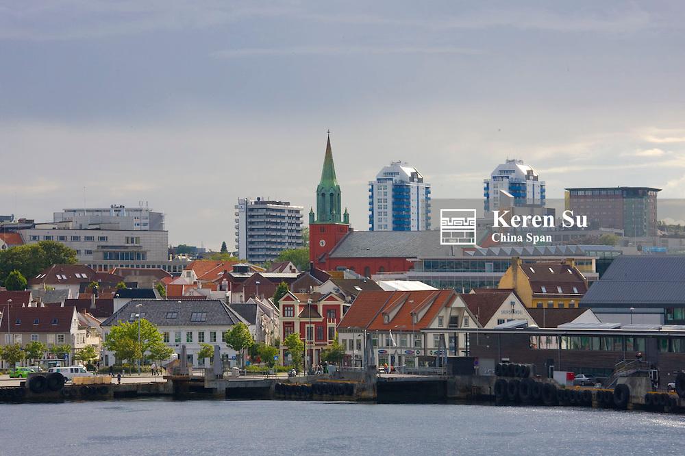 Waterfront and harbor, Stavanger, Norway