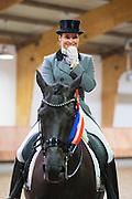 Danielle van Mierlo - Custom Zadels Dayano<br /> KNHS Indoorkampioenschappen 2017<br /> © DigiShots
