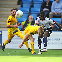 TELFORD COPYRIGHT MIKE SHERIDAN 25/8/2018 - Daniel Udoh of AFC Telford during the Vanarama Conference North fixture between AFC Telford United and Chester City.
