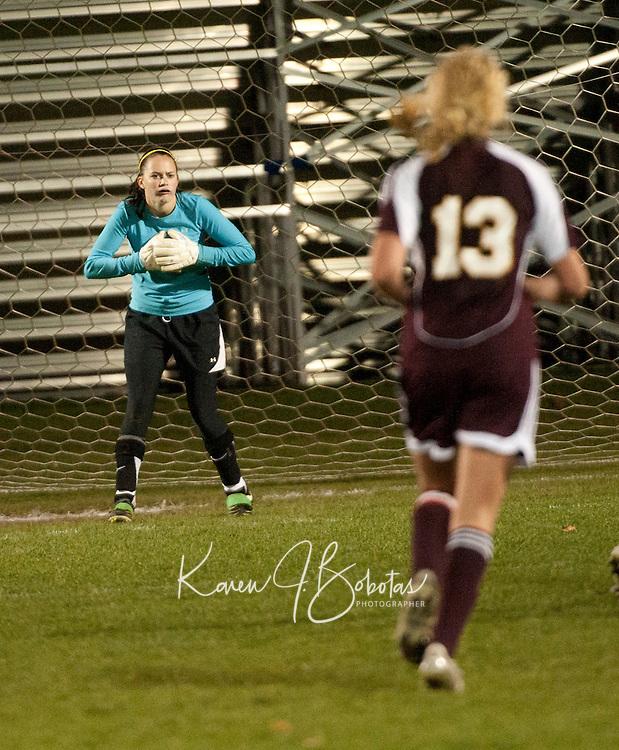 Varsity girls Soccer Laconia versus Lebanon October 19, 2010.
