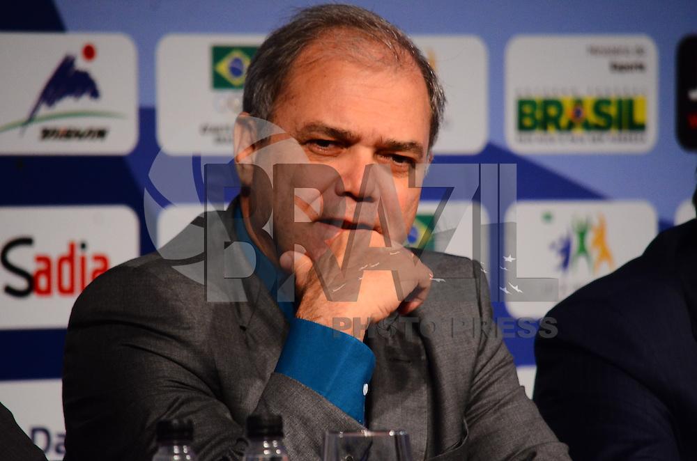 RIO DE JANEIRO, RJ,25 DE AGOSTO DE 2013 -COLETIVA/MUNIDIAL DE JUDÔ RIO 2013- Paulo Wanderley na coletiva de imprensa e o sorteio das chaves para o Mundial de Judô Rio 2013 que acontecerá no Maracanazinho de 26 de agosto a 01 de setembro, em São Conrado, zona sul do Rio de Janeiro.FOTO:MARCELO FONSECA/BRAZIL PHOTO PRESS