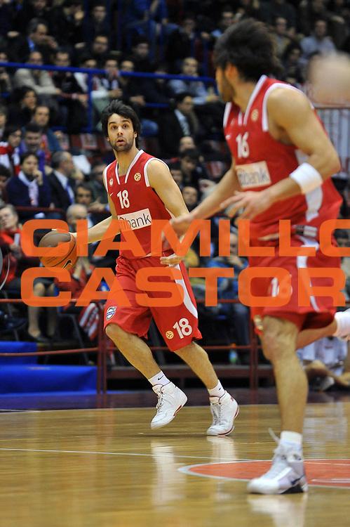 DESCRIZIONE : Milano Eurolega 2008-09 Armani Jeans Milano Olympiacos Piraeus<br /> GIOCATORE : Milos Teodosic<br /> SQUADRA : Olympiacos Piraeus<br /> EVENTO : Eurolega 2008-2009<br /> GARA : Armani Jeans Milano Olympiacos Piraeus<br /> DATA : 29/01/2009<br /> CATEGORIA : Palleggio<br /> SPORT : Pallacanestro<br /> AUTORE : Agenzia Ciamillo-Castoria/A.Dealberto