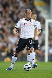 LONDON, ENGLAND - Monday, May 9, 2011: Fulham's former Liverpool player Danny Murphy during the Premiership match at Craven Cottage. (Photo by David Rawcliffe/Propaganda)