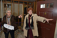 DOYLESTOWN, PA -  FEBRUARY  21: Barbara Bortner (L), moving coordinator go over Lois Wilson's layout for renovation of her new residence at Pin Run February 21, 2014 in Doylestown, Pennsylvania. (Photo by William Thomas Cain/Cain Images)