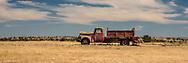 Fire Truck in a field outside an Oregon ghost town