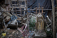 Washed up images of  Durga statues stand at Kumortuli market in Kolkata, West Bengal, India Thursday, Oct. 4, 2012 (Photo/Elizabeth Dalziel for Christian Aid)
