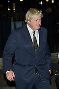 Boris Johnson arrives, in a shiny suit with scuffed shoes, at the Abbey - HRH The Duchess of Cornwall, on behalf of Her Majesty The Queen, is the main attendee at a Solemn Commemoration on the Centenary of the Outbreak of the First World War at Westminster Abbey. The candle-lit Vigil concludes the commemorations by Members of the Royal Family on 4th August. She was met by the Dean of Westminster at the West Gate. The Abbey faded into darkness during the service. Her Royal Highness extinguished the final flame at the Grave of the Unknown Warrior at 11pm to mark the exact moment at which war was declared.