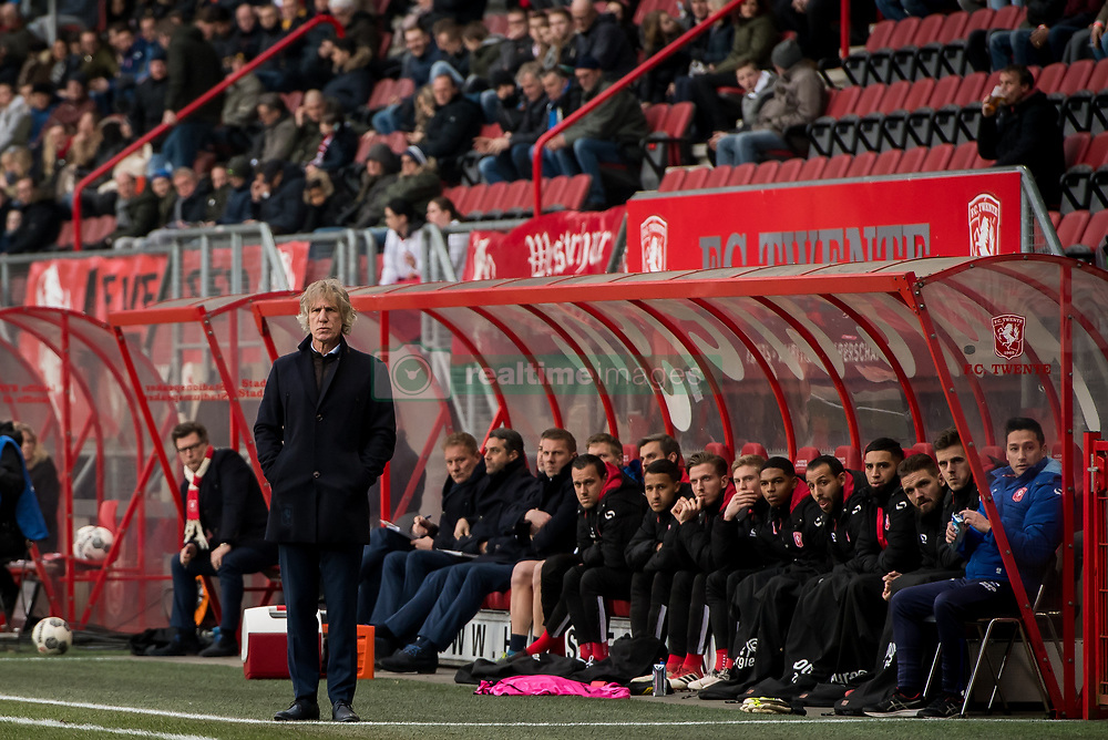 coach Gertjan Gert Jan Verbeek of FC Twente during the Dutch Eredivisie match between FC Twente Enschede and FC Groningen at the Grolsch Veste on March 04, 2018 in Enschede, The Netherlands