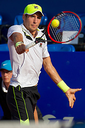 Dusan Lajovic (SRB) during a tennis match against the Dominic Thiem (AUT) in second round of singles at 26. Konzum Croatia Open Umag 2015, on July 23, 2015, in Umag, Croatia. Photo by Urban Urbanc / Sportida