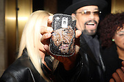 Ice-T's jeweled out phone at Ne-Yo's 30th Birthday Party held at Cipariani's on 42 Street on October 17, 2009 in New York City