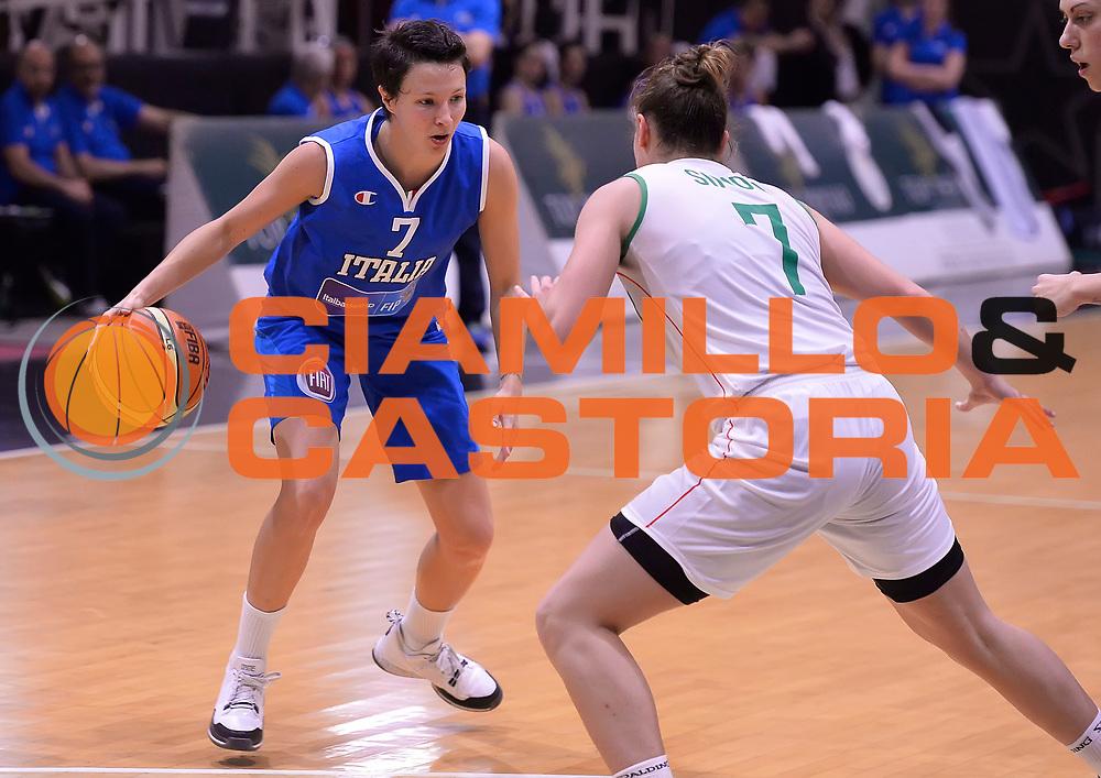 DESCRIZIONE : Roma Amichevole Pre Eurobasket 2015 Nazionale Italiana Femminile Senior Italia Ungheria Italy Hungary<br /> GIOCATORE : Giorgia Sottana<br /> CATEGORIA : palleggio<br /> SQUADRA : Italia Italy<br /> EVENTO : Amichevole Pre Eurobasket 2015 Nazionale Italiana Femminile Senior<br /> GARA : Italia Ungheria Italy Hungary<br /> DATA : 15/05/2015<br /> SPORT : Pallacanestro<br /> AUTORE : Agenzia Ciamillo-Castoria/Max.Ceretti<br /> Galleria : Nazionale Italiana Femminile Senior<br /> Fotonotizia : Roma Amichevole Pre Eurobasket 2015 Nazionale Italiana Femminile Senior Italia Ungheria Italy Hungary<br /> Predefinita :