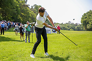 Michael Carrick chips out of the rough during the Celebrity Pro-Am day at Wentworth Club, Virginia Water, United Kingdom on 23 May 2018. Picture by Phil Duncan.