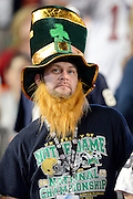 January 7, 2013: Notre Dame fan before the start of the Discover BCS National Championship game between the Alabama Crimson Tide and the Notre Dame Fighting Irish at Sun Life Stadium in Miami Gardens, Fl