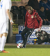 Scotland coach Scott Gemmill shows neat control  - Scotland under 21s v Estonia international challenge match at St Mirren Park, St Mirren. Pic David Young<br />  <br /> - © David Young - www.davidyoungphoto.co.uk - email: davidyoungphoto@gmail.com