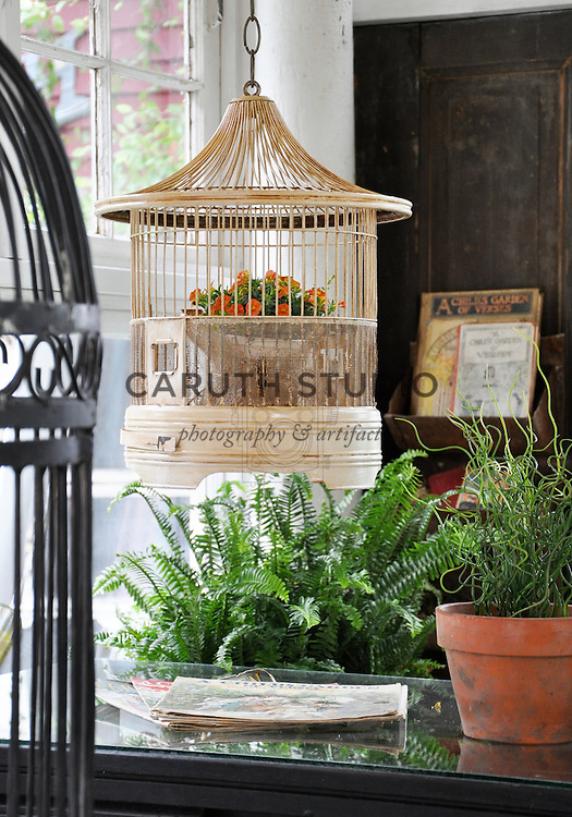 Architectural Salvage Shed: Vintage birdcage