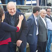 © María Muiña I Sailingshots.es. Botadura del nuevo Bribon Movistar 6M de Jose Álvarez que patroneará SM El Rey Don Juan Carlos en el próximo mundial de la clase en Vancouver (Canadá) y cuya madrina ha sido Violeta Álvarez.