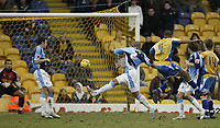 Photo: Aidan Ellis.<br /> Mansfield Town v Wycombe Wanderers. Coca Cola League 2. 24/02/2007.<br /> Mansfield's Johnathon D'Lareya fires in the third and wiining goal