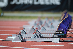 Behind the scenes, , Starting Blocks, 2013 IPC Athletics World Championships, Lyon, France