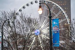 General images of Chick-fil-A Peach Bowl signage on Friday, December 28, 2018, in Atlanta. (Paul Abell via Abell Images for the Chick-fil-A Peach Bowl)