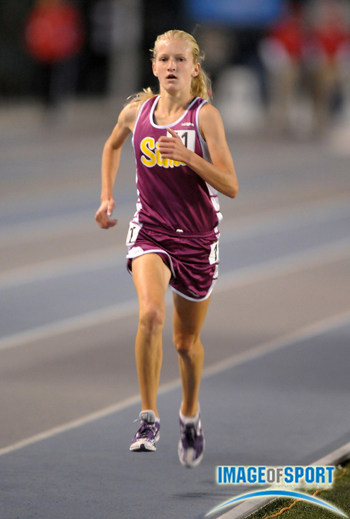 May 25, 2012; Norwalk, CA, USA; Sarah Baxter of Simi Valley wins the girls 3,200m in 10:08.71 in the 2012 CIF Southern Section Masters Meet at Cerritos College.
