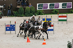 De Ronde Koos, (NED), Charley, Mario, Mister, Tommy<br /> FEI World Cup Driving Final Geneve 2010<br /> © Hippo Foto - Dirk Caremans