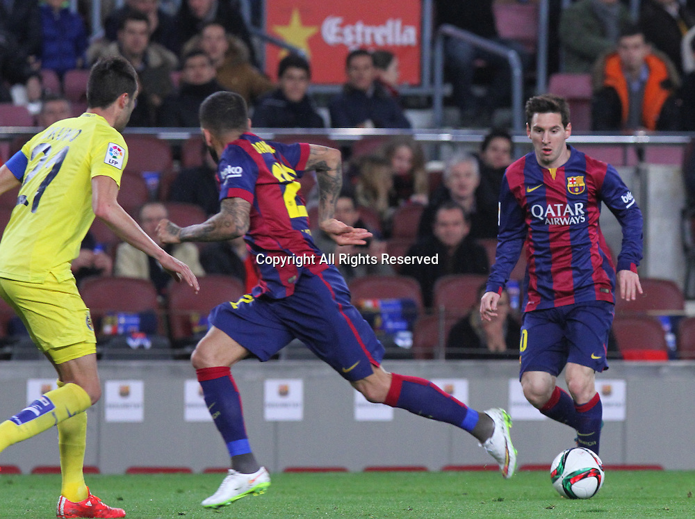11.02.2015 Barcelona, Spain. Spanish Cup , Semi-final.  Leo Messi in action during game between FC Barcelona against Villareal at Camp Nou