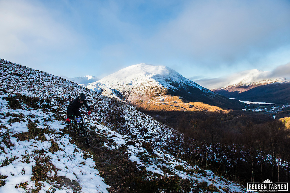 Glenn Telford tackles stage one of the Kinlochleven Enduro.