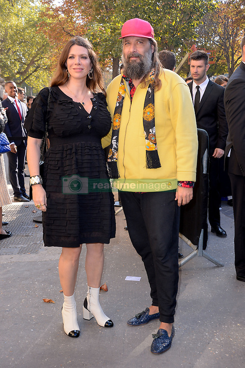 Amandine de la Richardiere and Sebastien Tellier arriving at the Chanel show as a part of Paris Fashion Week Ready to Wear Spring/Summer 2017 on October 4, 2016 in Paris, France. Photo by Julien Reynaud/APS-Medias/ABACAPRESS.COM