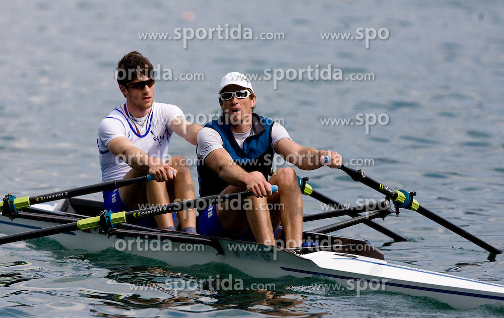 Zupan Janez and Iztok Cop of VK Bled at 51st Prvomajska Regatta Bled 2010, on April 25, 2010, at Lake Bled, Bled, Slovenia. (Photo by Vid Ponikvar / Sportida)