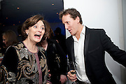 CHERIE BLAIR; BRENDAN COLE,  English National Ballet's party before performance of the ' The Nutcracker. St. Martin's Lane Hotel. London 14 December 2011.
