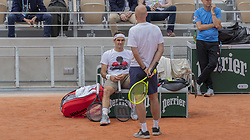 Roger Federer, Ivan Ljubicic, training ahead the Roland Garros French Open tournament, on May 21, 2019 in Paris, France. Photo by ABACAPRESS.COM