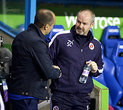 READING, ENGLAND - Tuesday, September 22, 2015: Everton's manager Roberto Martinez and Reading's manager Steve Clarke before the Football League Cup 3rd Round match at the Madejski Stadium. (Pic by David Rawcliffe/Propaganda)