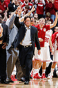 BLOOMINGTON, IN - JANUARY 12: Indiana Hoosiers head basketball coach Tom Crean looks on during the game against the Minnesota Golden Gophers at Assembly Hall on January 12, 2012 in Bloomington, Indiana. Minnesota defeated Indiana 77-74. (Photo by Joe Robbins)