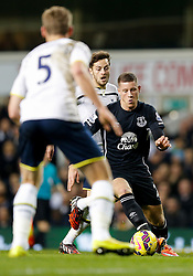 Ross Barkley of Everton in action - Photo mandatory by-line: Rogan Thomson/JMP - 07966 386802 - 30/11/2014 - SPORT - FOOTBALL - London, England - White Hart Lane - Tottenham Hotspur v Everton - Barclays Premier League.