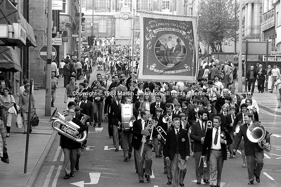 Kellingley Colliery Banner, 1983 Yorkshire Miner's Gala. Barnsley