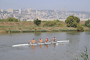 Rowers in the Kishon River in the Bay of Haifa