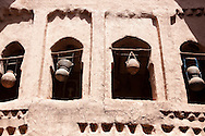 Water jars inside a kasbah in the Draa Valley, Morocco.