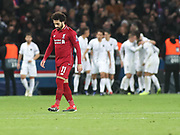 Mohamed Sarah of Liverpool disappointed during the Champions League group stage match between Paris Saint-Germain and Liverpool at Parc des Princes, Paris, France on 28 November 2018.
