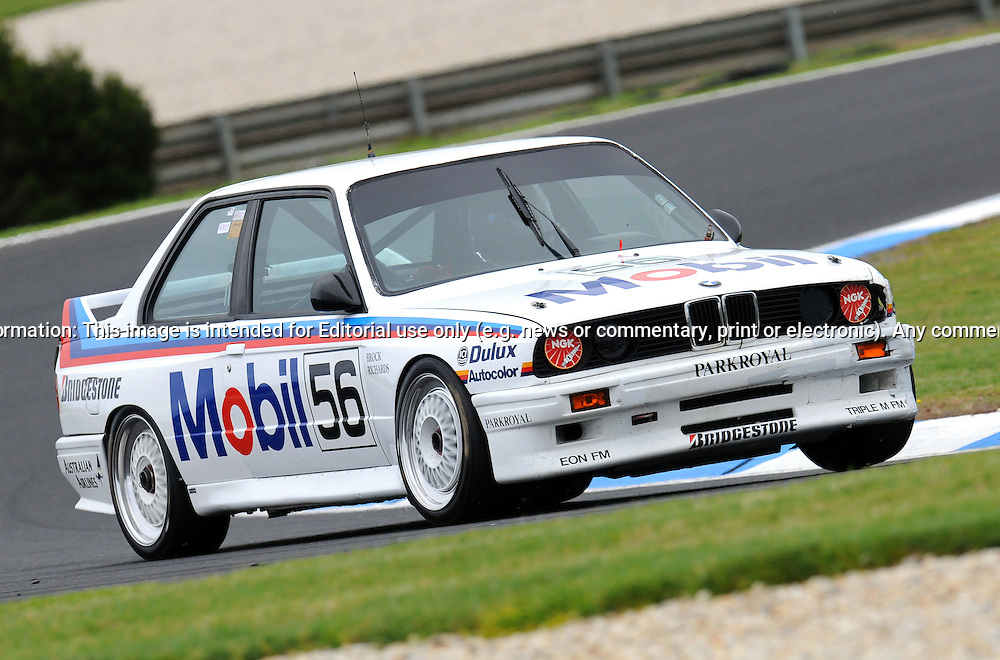 Jervis Ward - BMW M3 - Group B.Historic Motorsport Racing - Phillip Island Classic.18th March 2011.Phillip Island Racetrack, Phillip Island, Victoria.(C) Joel Strickland Photographics.Use information: This image is intended for Editorial use only (e.g. news or commentary, print or electronic). Any commercial or promotional use requires additional clearance.
