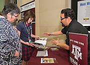 Texas College Night at Reagan High School, November 6, 2013.