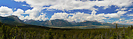 Panoramic view over Waterton Lakes National Park, Alberta, Canada